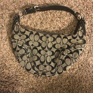 Black initial Coach purse handbag bag black